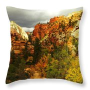 October In Zion Throw Pillow