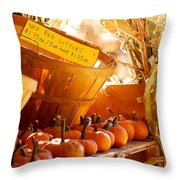 October Market Throw Pillow