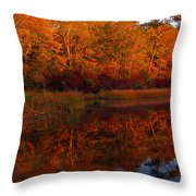 October Mirror Throw Pillow