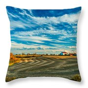 October Patterns Throw Pillow