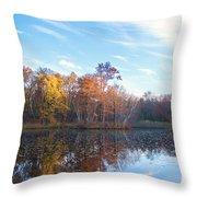 October Pond View Throw Pillow