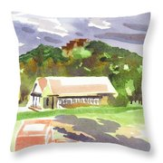 October Shadows At Fort Davidson Throw Pillow