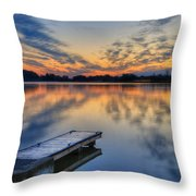 October Sunrise At Lake White Throw Pillow
