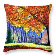 October Surprise Throw Pillow