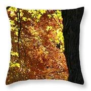 October Tree Throw Pillow