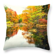 Octobers Paintbrush Throw Pillow