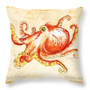 Octopus For Study Throw Pillow