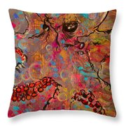 Octopus Illistration Throw Pillow