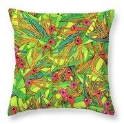 Odd Birds Of Paradise Throw Pillow