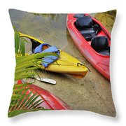 Odd Boat Out Throw Pillow