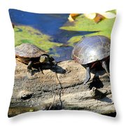 Odd Couple Throw Pillow