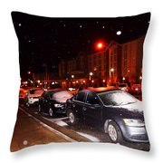 Odd Weather In Albany Ga Throw Pillow