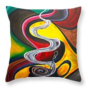 Ode To Coffee... Throw Pillow