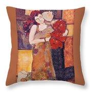 Ode To Klimt Throw Pillow