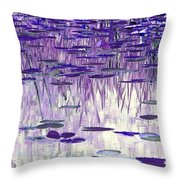 Ode To Monet In Purple Throw Pillow