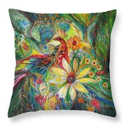 Ode To My Flowers Throw Pillow