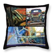 Ode To Old Truck Throw Pillow
