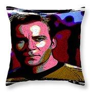 Ode To Star Trek Throw Pillow by John Malone
