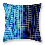 Ode To Steve S.   Corner In Blue Throw Pillow