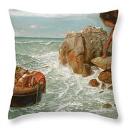 Odysseus And Polyphemus Throw Pillow