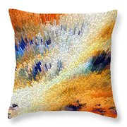 Odyssey - Abstract Art By Sharon Cummings Throw Pillow
