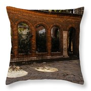 Of Courtyards And Elegant Arches  Throw Pillow