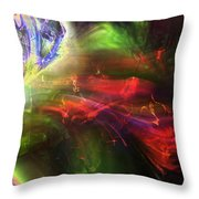 Of Frogs And Flowers Throw Pillow