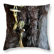 Of Fur And Rope Throw Pillow