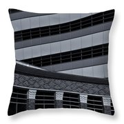 Of Lines And Curves  Mono Throw Pillow