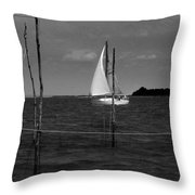 Of Sailers And Watermen Throw Pillow