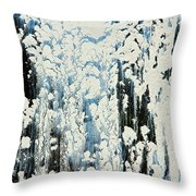 Of Snow And Clouds Throw Pillow