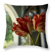Of Tulips And Windows Throw Pillow