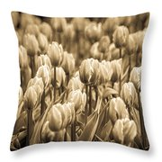 Of Tulips Past Throw Pillow