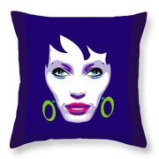 Ofelia Portrait Throw Pillow