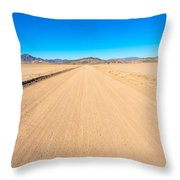 Off-road To Death Valley National Park Throw Pillow