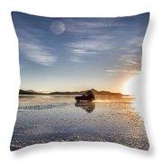Off Road Uyuni Salt Flat Tour Dramatic Throw Pillow
