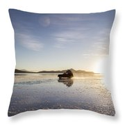Off Road Uyuni Salt Flat Tour Throw Pillow