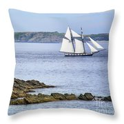 Off Saint-malo Throw Pillow