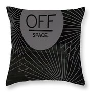 Off Space Throw Pillow