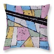 Off The Map Throw Pillow