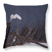 Off To Hunt Throw Pillow