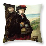 Off To School, 1860 Throw Pillow