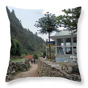 Off To School Throw Pillow