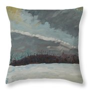 Off To See The Blizzard Throw Pillow