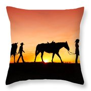 Off To The Barn Throw Pillow