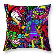 Off To The Concert Throw Pillow