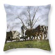 Off To The Field Throw Pillow