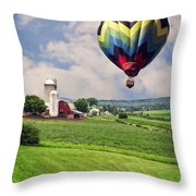 Off To The Land Of Oz Throw Pillow