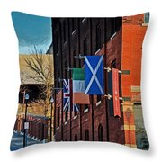 Off To The Tilted Kilt Throw Pillow