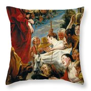 Offering To Ceres Goddess Of Harvest Throw Pillow